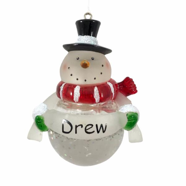 Light Up Snowman Ornament