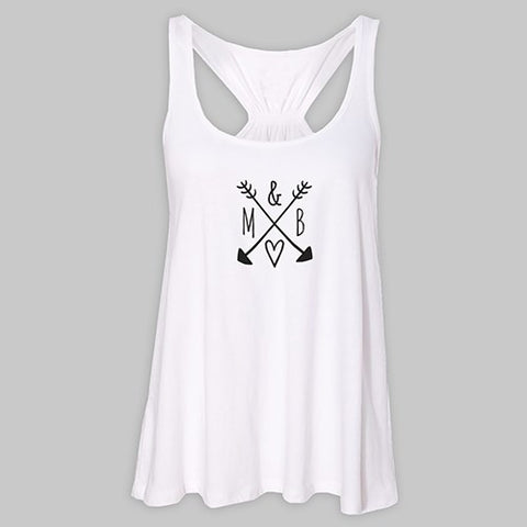Arrows & Initials White Tank Top