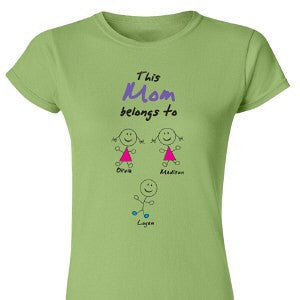 Belongs To... Personalized Ladies' Fitted T-Shirt