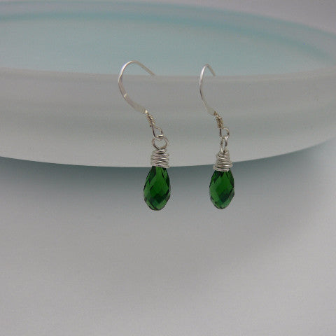 Swarovski Briolette Birthstone Earrings