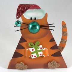 Personalized Christmas Cat Figurine