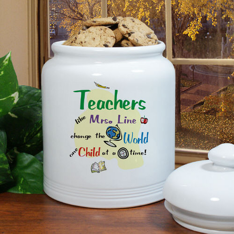 Change The World Ceramic Cookie Jar