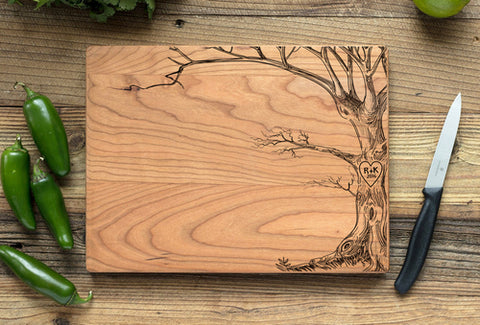 Cherry Personalized Cutting Board - Love Tree