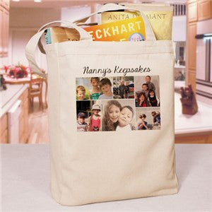 Collage Photo Canvas Tote Bag