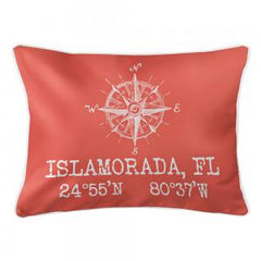 Custom Compass Rose Coordinates Lumbar Pillow