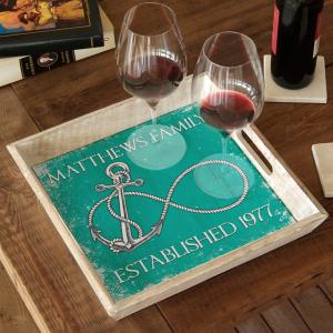 Custom Wedding Infinity Anchor Serving Tray