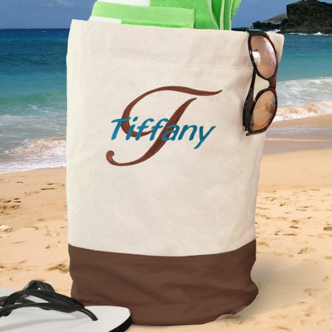 Embroidered Beach Duffel Bag