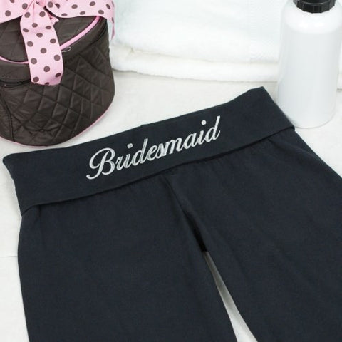 Embroidered Bridal Party Yoga Pant