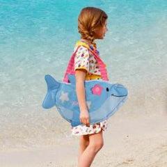 Embroidered Dolphin Beach Tote with Toys