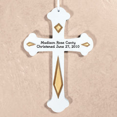 Engraved Christened Wall Cross