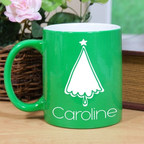 Engraved Christmas Tree Mug