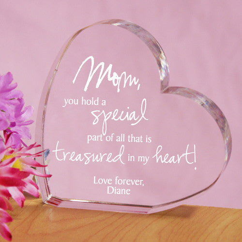 Engraved Treasured In My Heart Keepsake