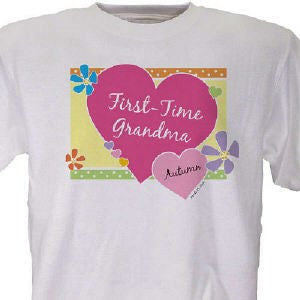 First -Time Grandma New Baby Personalized T-shirt