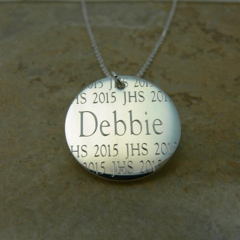 Engraved Graduation Pendant