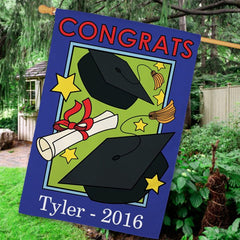 Graduation Personalized House Flag