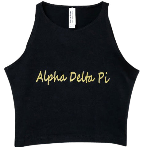 Alpha Delta Pi Sleeveless Crop Top