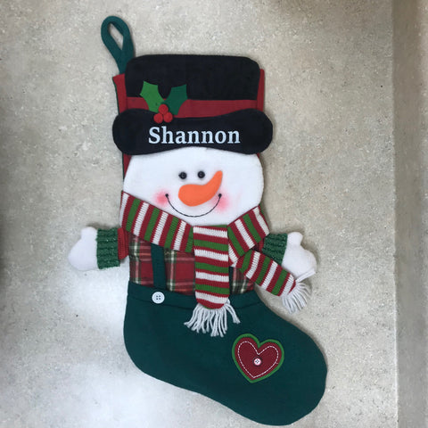 Just Becuzz Snowman Personalized Stocking