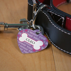 I Woof You Heart Dog Tag
