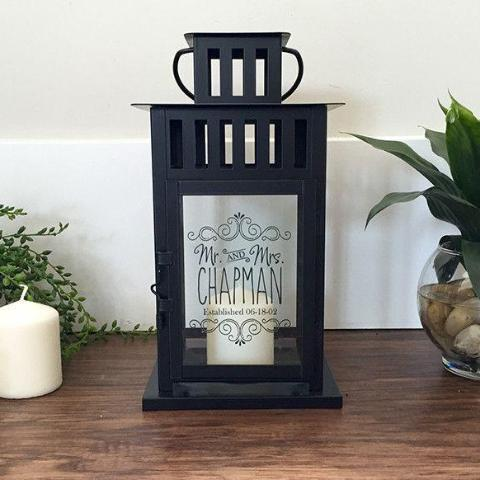 Mrs & Mrs Personalized Lantern