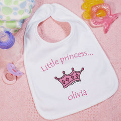 Little Prince/Princess Personalized Baby Bib