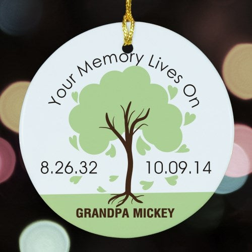 Memory Lives On Memorial Ornament