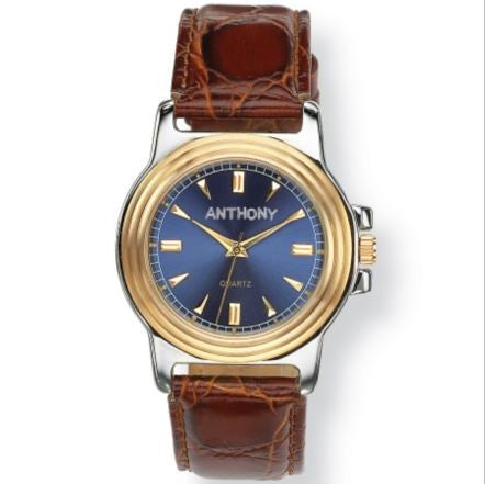 Men's Personalized Brown Leather Watch