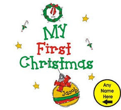 My 1st Christmas Personalized Baby Bib