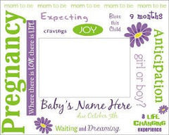 New Pregnancy Ultrasound Personalized Printed Frame