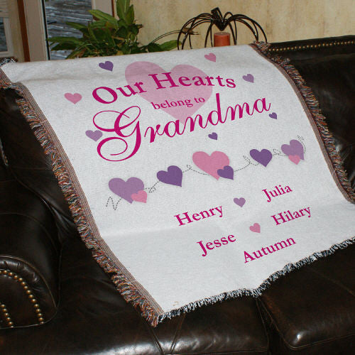 Our Hearts Belong To... Personalized Tapestry