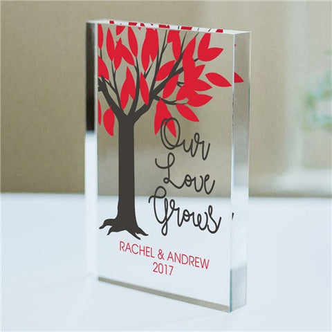 Our Love Grows Acrylic Block Keepsake
