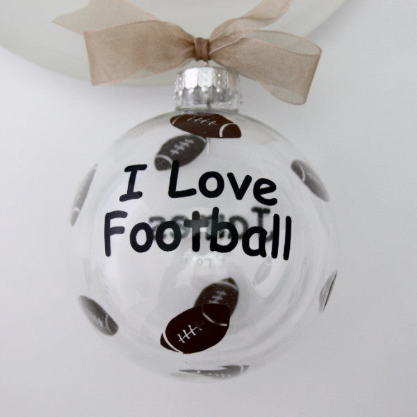 I Love Football Ornament