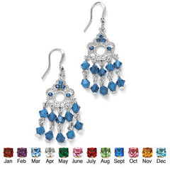 Birthstone Chandelier Earrings