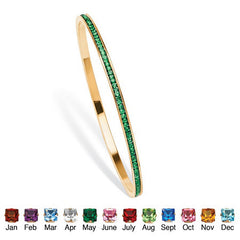 Birthstone Stackable Eternity Bangle Bracelet