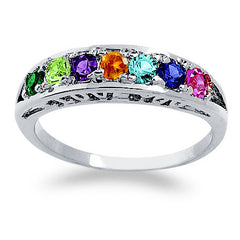 "Round Birthstone ""I Love You"" Ring"