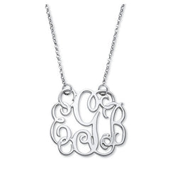 Personalized Script Monogram Necklace