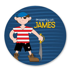 Personalized Girl and Boy Property of Stickers