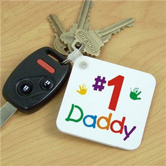 Personalized #1 Key Chain