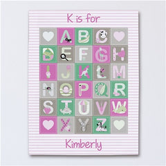 Personalized Alphabet Baby Canvas