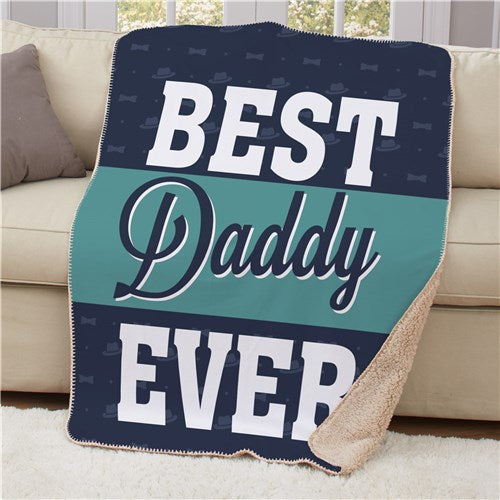 Personalized Best Daddy Sherpa Blanket