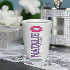 Personalized Bridal Party Shot Glass