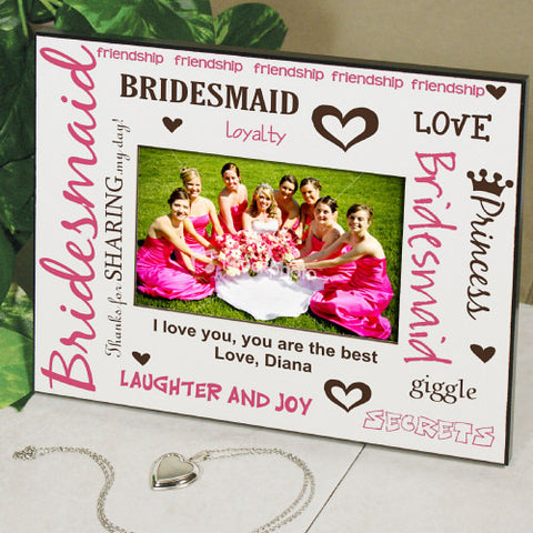 Personalized Bridesmaid Printed Picture Frame