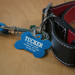 Personalized Carabiner Dog Bone Tag