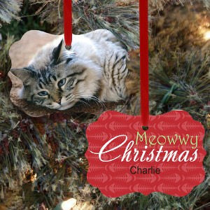 Personalized Cat Photo Ornament