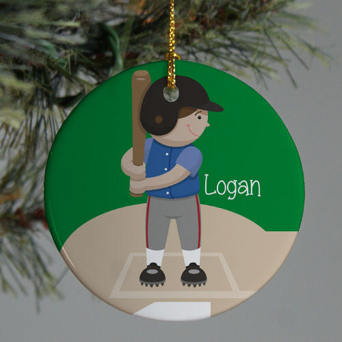Personalized Ceramic Baseball Ornament