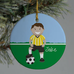 Personalized Ceramic Boy or Girl Soccer Ornament