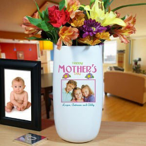 Personalized Ceramic Happy Mother's Day Photo Vase