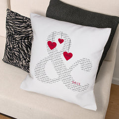Personalized Couple's Love Throw Pillow