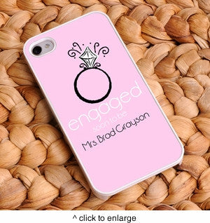 Personalized Engaged Bling Pink iPhone Case