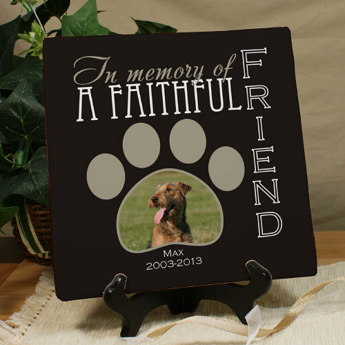 Personalized Faithful Friend Photo Memorial Canvas