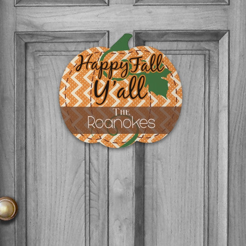 Personalized Fall Wall Sign